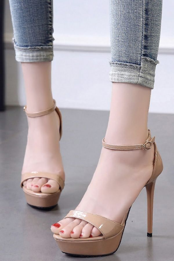Open Toe Stiletto High Heel Sandals