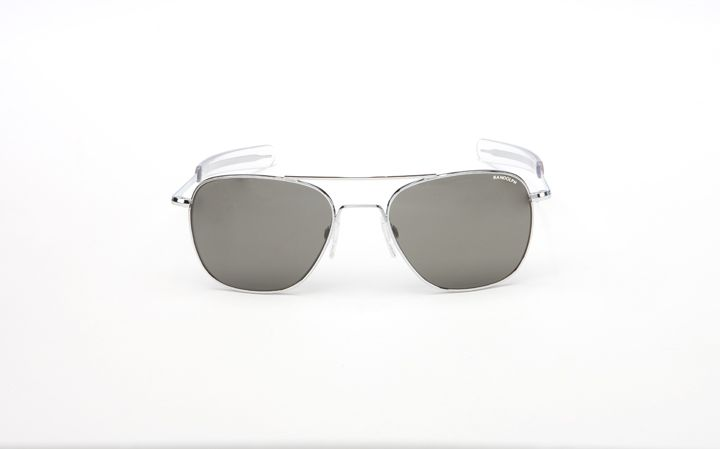 AVIATOR – Randolph Online Store Matte chrome frame and AGX lens with bayonet temples. $129