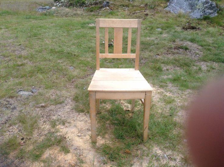 FINN – Eldre kjøkkenstoler, 4 bjerk kjøkkenstoler