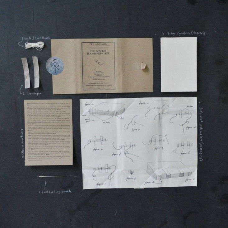 Gift guide holiday gifts for teachers   Remodelista book binding kit