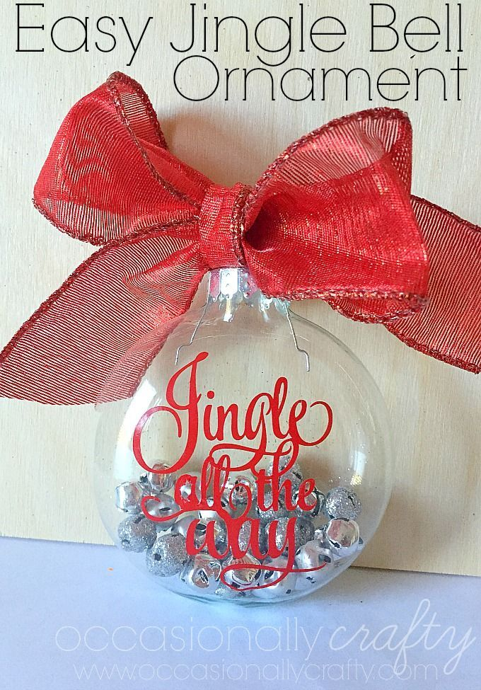 Make Handmade Ornaments for Christmas Gifts with this easy tutorial for a Jingle All the Way Vinyl Ornament!