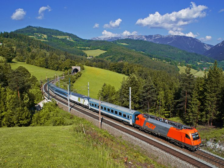 Semmering Railway, Austria. Semmering Railway, Austria  The hour-long Semmering crosses the Austrian Alps' Semmering Pass, and crosses over 16 viaducts, all carved by hand into the rocks. It's a masterpiece of civil engineering and traverses some of the most epic scenery in the world!
