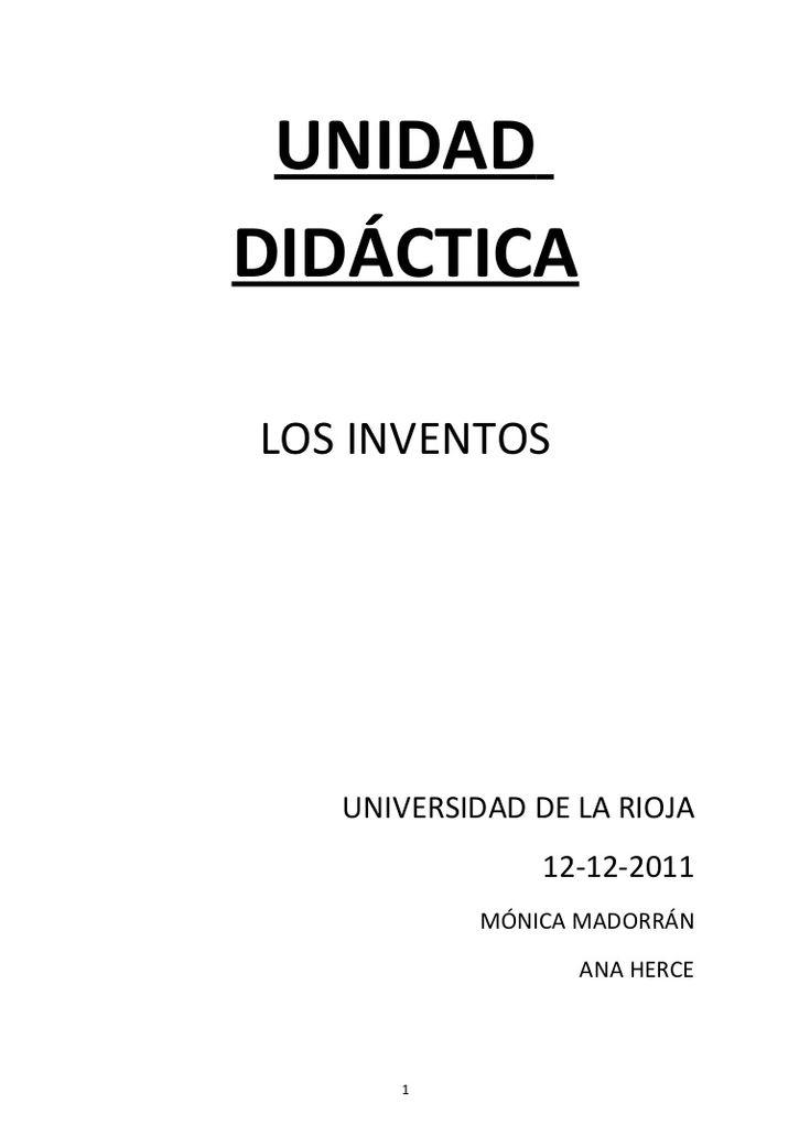 Unidad didáctica sobre los inventos creada a partir de una poesía como material didáctico. Realizada para una clase de de Didáctica de las Ciencias Sociales y …