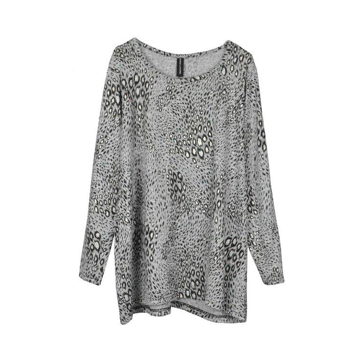 Sweater/polera lanilla, holgado, estampado print
