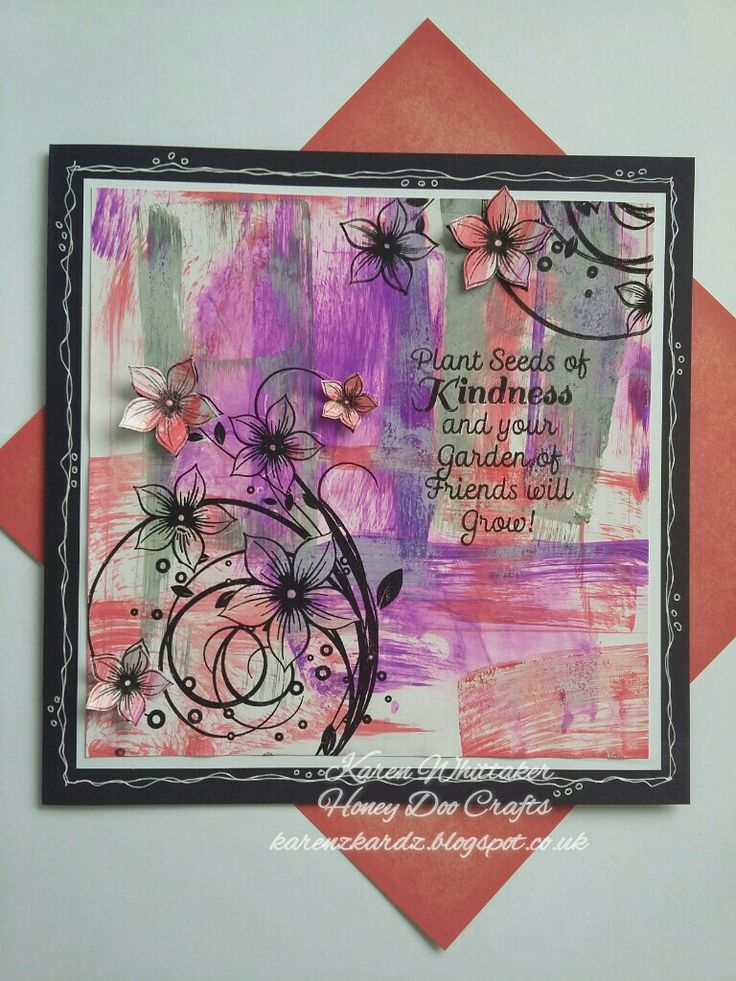 Honey Doo Crafts Flower Fountain and Friendship Quotes  #honeydoocrafts #flowerfountain #friendshipquotes #dtsample #distressoxides #vibrant #inky #stamping #stamp #cardmaking #card #creative #craft #ilovetocraft