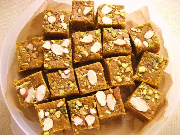 Sweet Indian Desserts   Gram Flour Fudge (Monthar)