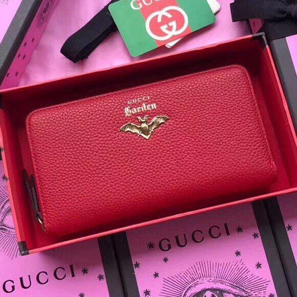 b7f1b00e183 Gucci Garden Bat Zip Around Wallet 100% Authentic 80% Off ...