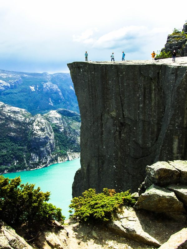 Preikestolen hike. Lysefjorden, Stavanger, Norway