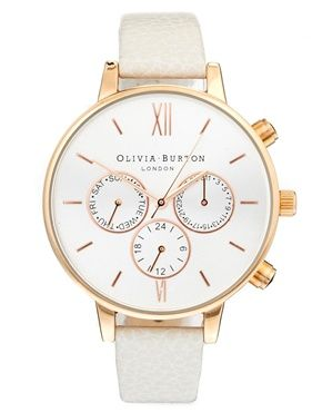 IN LOVE with this Olivia Burton Mink And Rose Chronograph Watch: