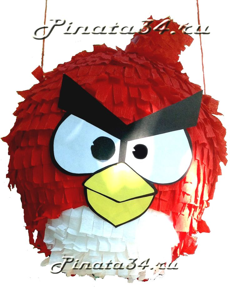 Пиньята «Сердитая Красная Птичка из Игры Angry Birds» от 400 рублей!