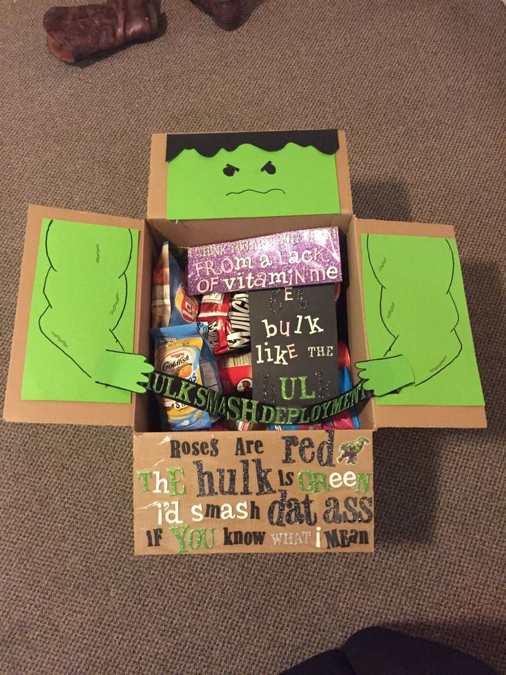 Hulk Marine Deployment Care Package Boyfriend