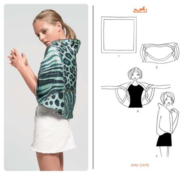 How to Knot a Hermès Scarf in 21 Different Ways / so many ways to wear an #Hermes scarf