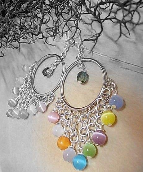 Earrings#summerlove#catseye#madewithlove