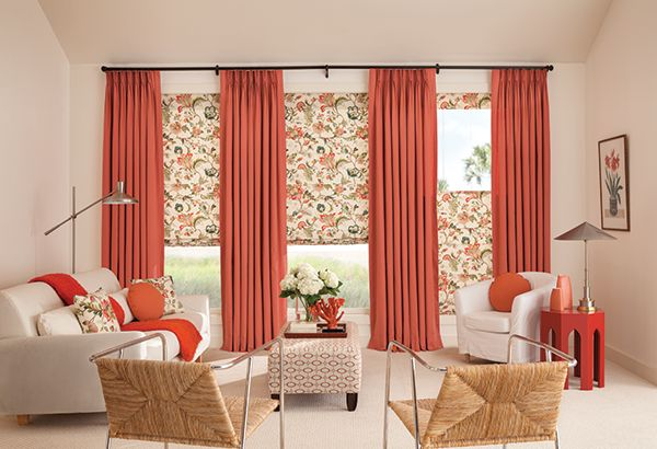 Bright and bold window treatments.
