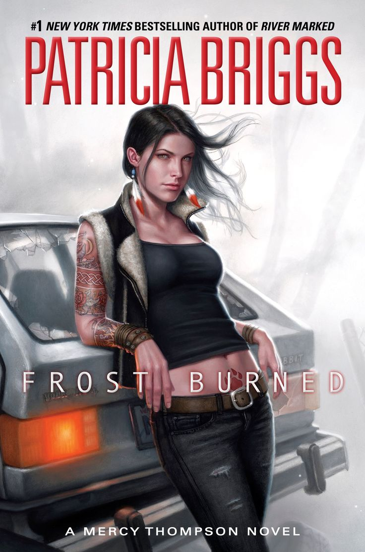 Cover Reveal: Frost Burned (Mercy Thompson #7) by Patricia Briggs. Art by Dan Dos Santos. Coming 3/5/13