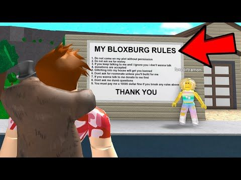 A Poke Hater Made Bloxburg Rules And I Broke All Of Them Roblox Youtube Roblox Poking Roblox Roblox