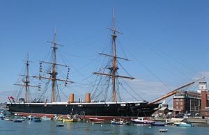 HMS Warrior in Portsmouth, UK
