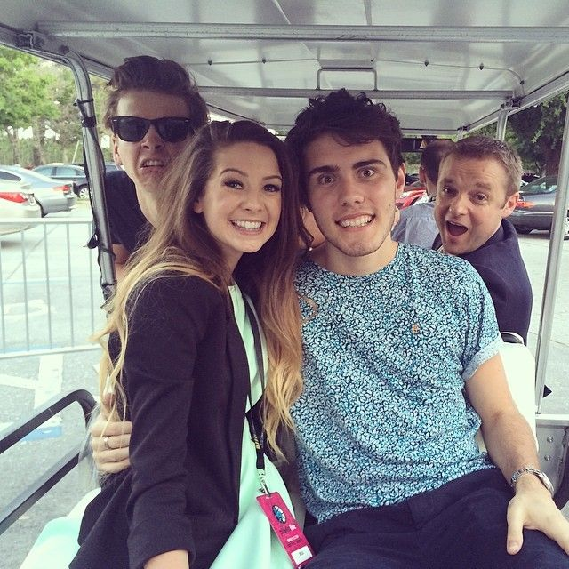 Golf buggy times with @Alfie . @joe_sugg & @Dominic Smales :)