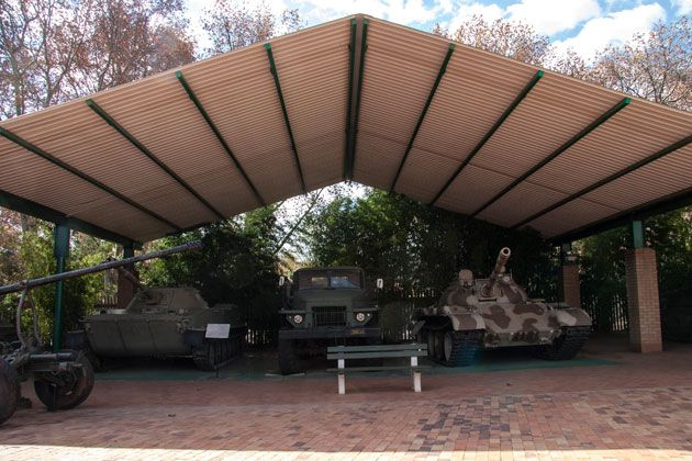 Tanks and military vehicles  http://citysightseeing-blog.co.za/2014/06/07/ditsong-national-museum-of-military-history-johannesburg/