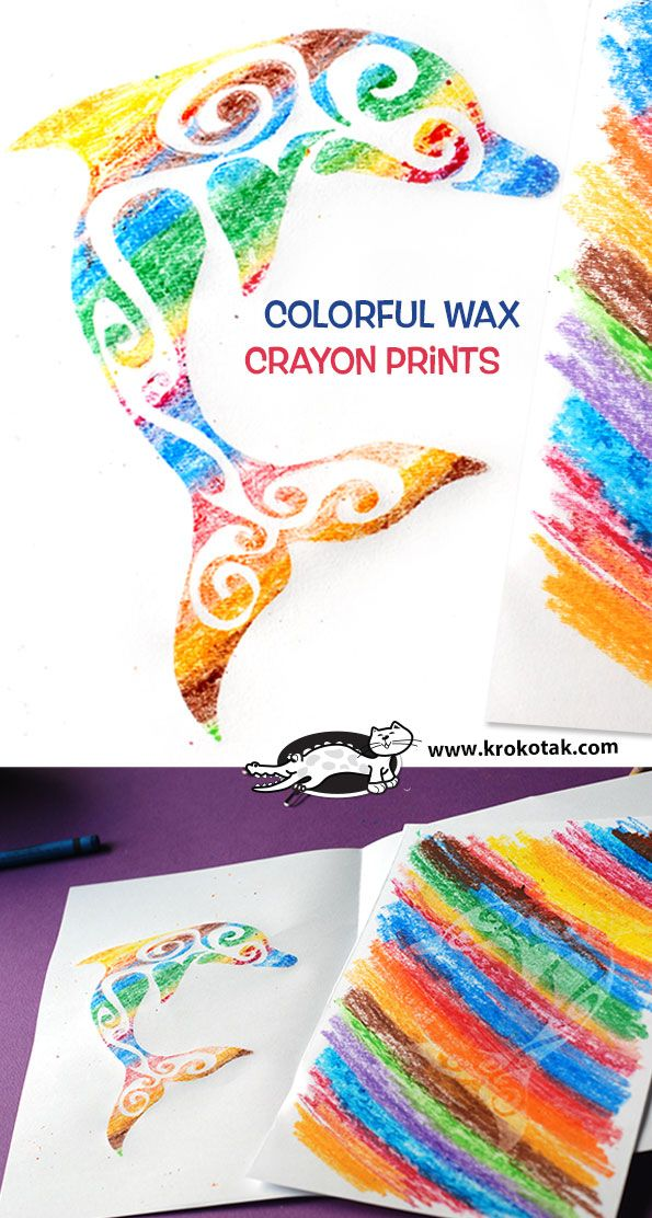 Colorful Wax Crayon Prints