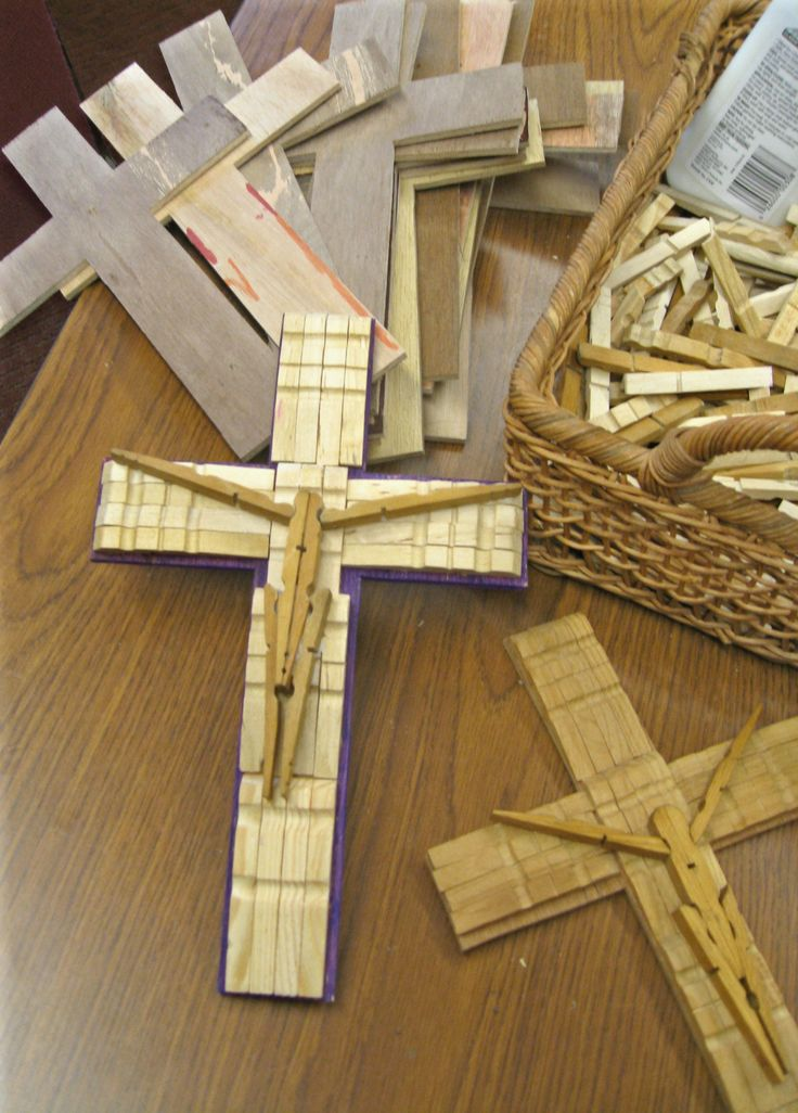 clothespin crosses