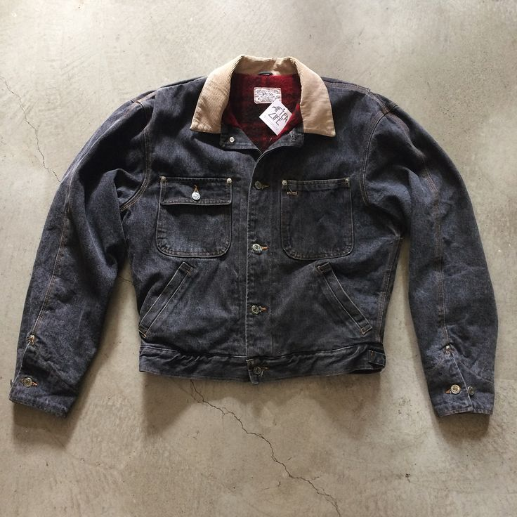 """80's Polo wool flannel lined jean jacket, size S measures 23"""" pit to pit 26"""" collar to hem, $48+$16 domestic shipping. Call 415-796-2398 to purchase or PayPal afterlifeboutique@gmail and reference item in post."""