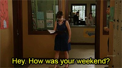"""When she got completely overwhelmed by the prospect of small talk. 