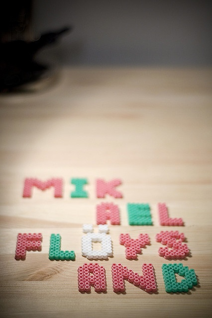 Hama beads by Mikael Floysand, via Flickr