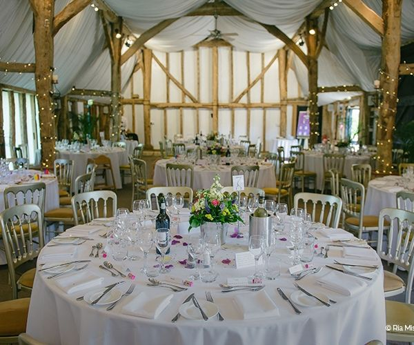 South Farm set up for a wedding reception