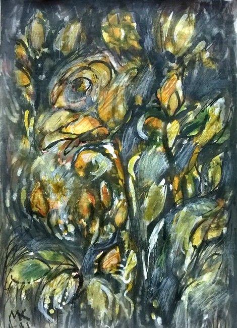 Mihaela Marilena Chitac, YELLOW GARDEN ROSES on ArtStack #mihaela-marilena-chitac #art