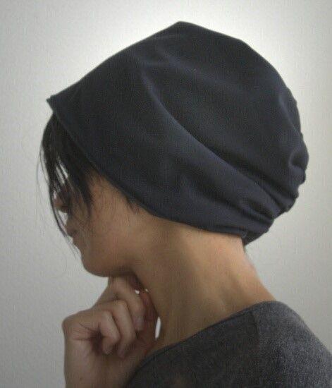 ターバンな帽子 ネイビーリバーシブル