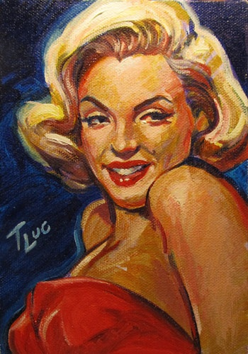 Artist: Terry Luc  || This image first pinned to Marilyn Monroe Art board, here: http://pinterest.com/fairbanksgrafix/marilyn-monroe-art/ ||