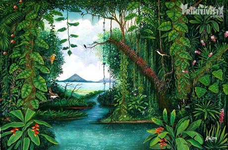 Product:Naive Painting. Title:Ometepe Island. Artist:Abel Vargas.