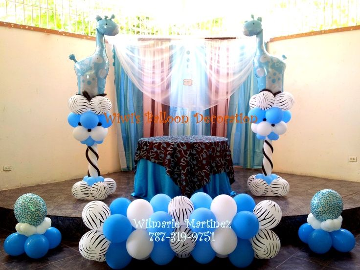 balloon decorations baby shower decorations blue balloons letter
