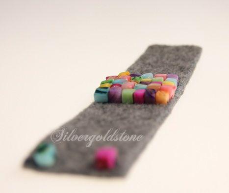 Kolorowa bransoletka z filcu