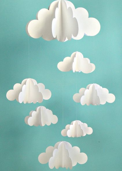 This would be super cute for a kids room. Contemporary Mobiles by Etsy