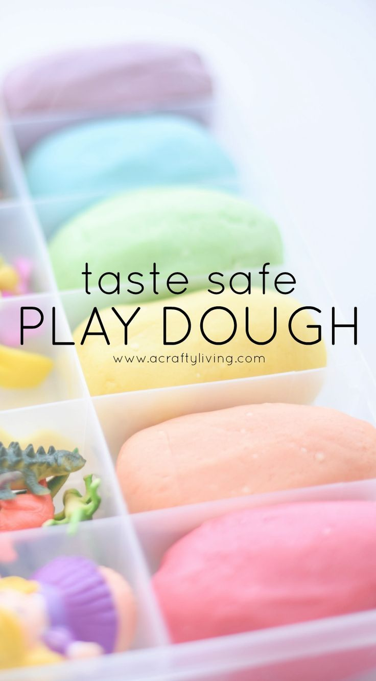 Taste-safe play dough recipe that's naturally colored. Perfect for young kids!
