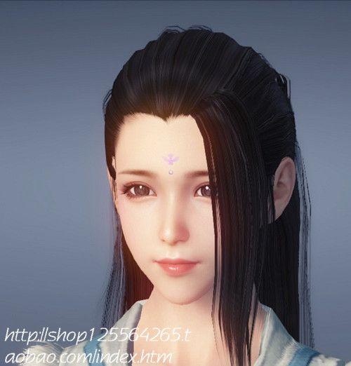 天涯明月刀OL捏脸女 青枫捏脸灰色瞳孔女...