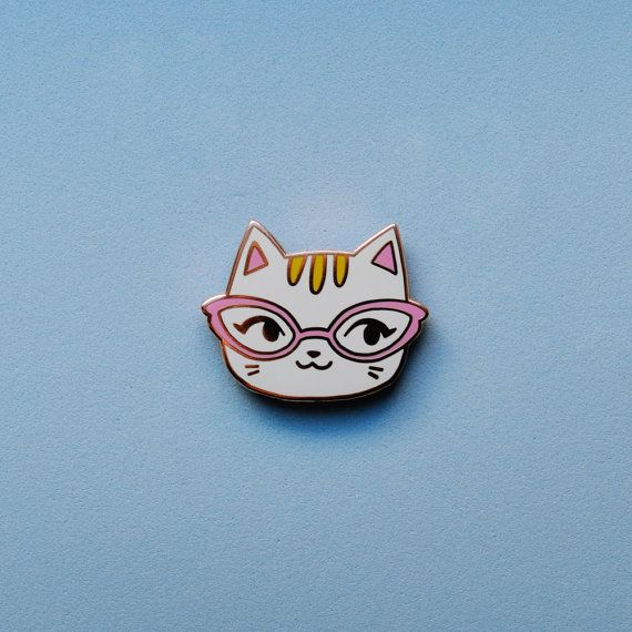 Enamel Pin  Cat by sockie on Etsy