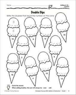 Ice Cream Cones: Adding to 18