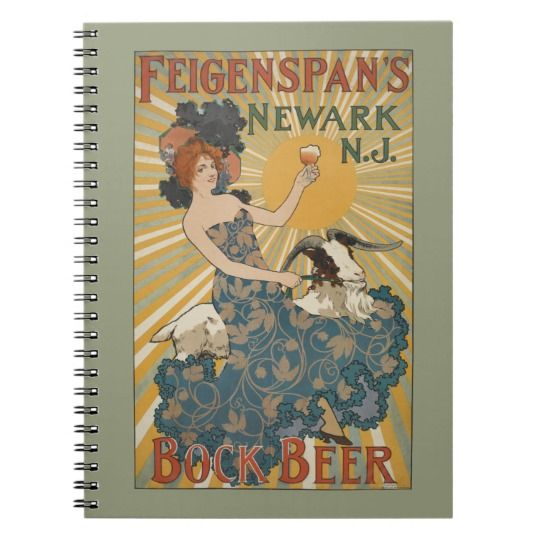 NYPL   Feigenspan's Bock Beer, Newark, NJ Notebook