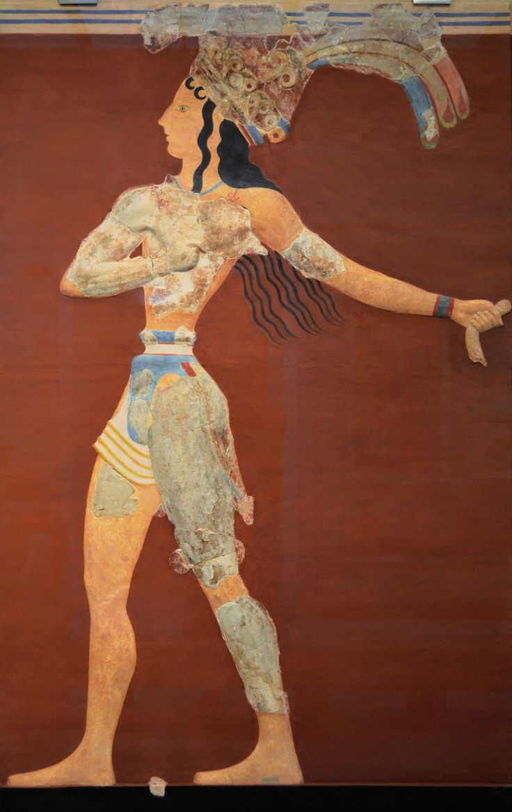 "Archaeological Museum of Heraklion: The ""Prince of the Lilies"", an emblematic figure of Minoan Crete, was part of a larger mural composition in high relief."