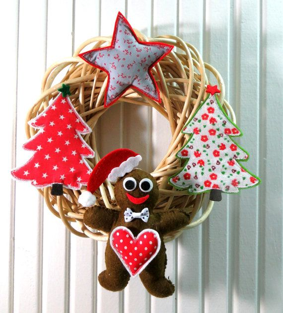Natural Willow Wreath Christmas Themes Embellishment by sesideco, $40.00