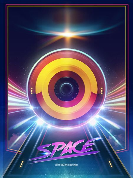 Portal Space by Cristian M. Ruiz Parra, via Behance