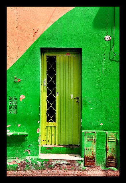 Lime green door, Argentina http://www.travelbrochures.org/214/south-america/travel-argentina