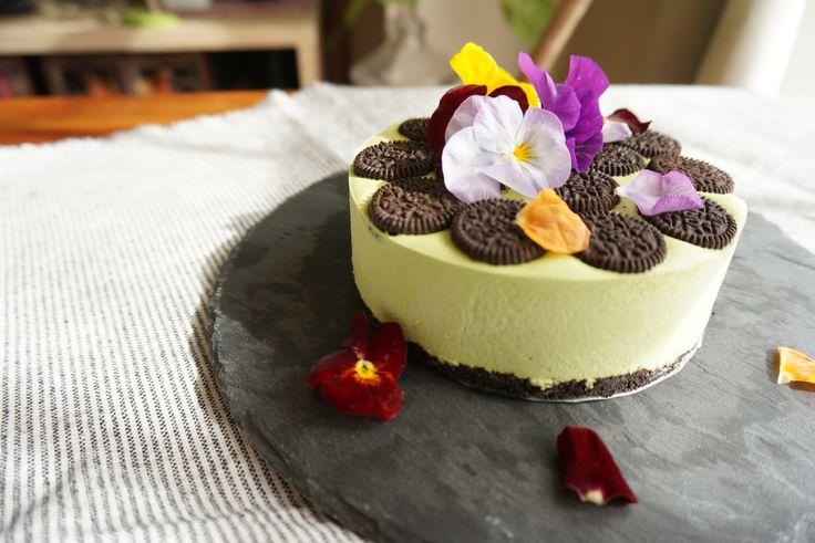 抹茶のレアチーズケーキ maccha cheese cake