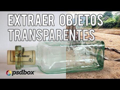 Extraer fondo de objetos transparentes | Tutoriales Photoshop en Español