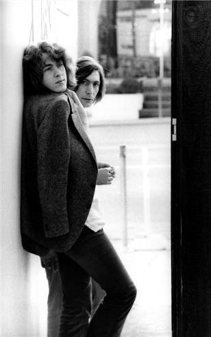 Mick Taylor and Charlie Watts, L.A. 1969