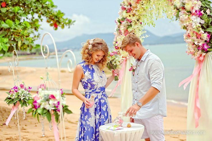 Свадебная церемония на пляже в Тайланде