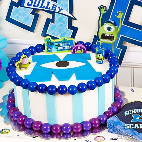 The little monsters will think they're at Scare School when they see this *screamin'-cute* Monsters University cake. Easy how-to!
